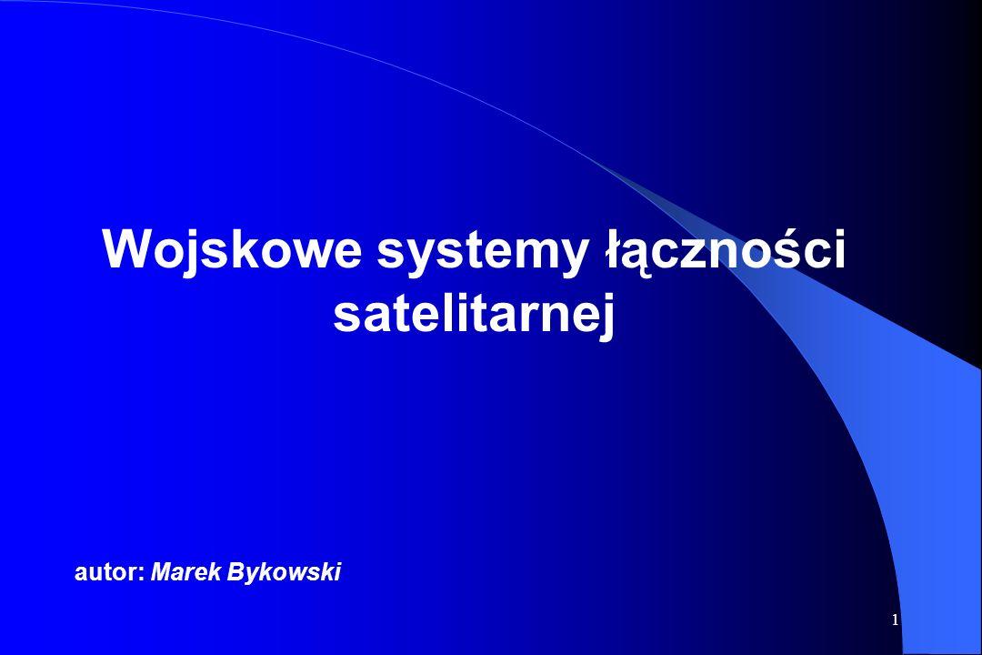 Wojskowe systemy łączności satelitarnej