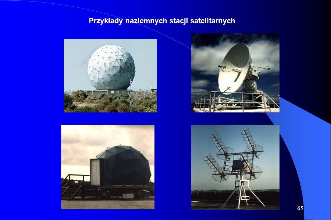 Przykłady naziemnych stacji satelitarnych