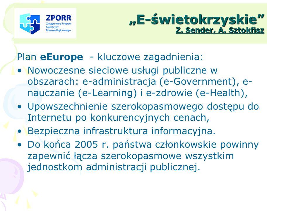 """""""E-świetokrzyskie Z. Sender, A. Sztokfisz"""