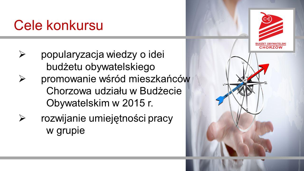 Cele konkursu popularyzacja wiedzy o idei budżetu obywatelskiego