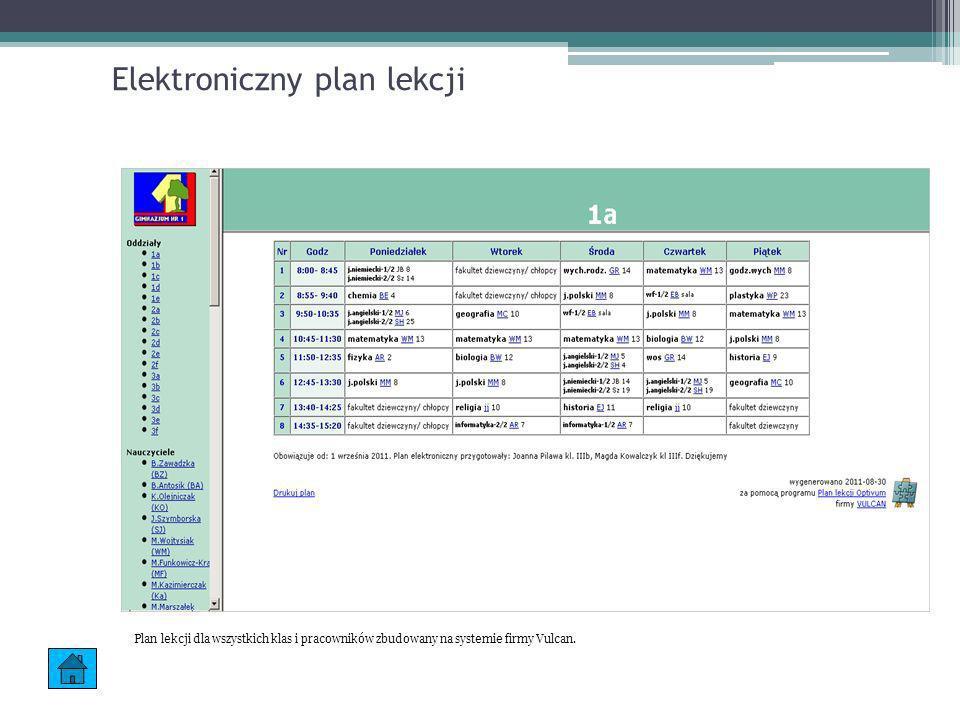 Elektroniczny plan lekcji