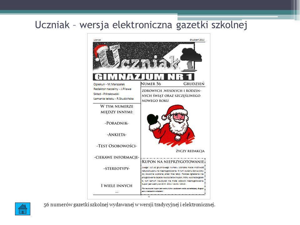 Uczniak – wersja elektroniczna gazetki szkolnej