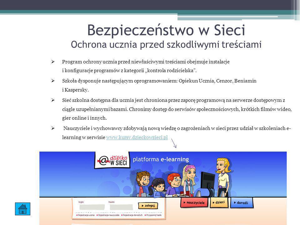 Bezpieczeństwo w Sieci Ochrona ucznia przed szkodliwymi treściami