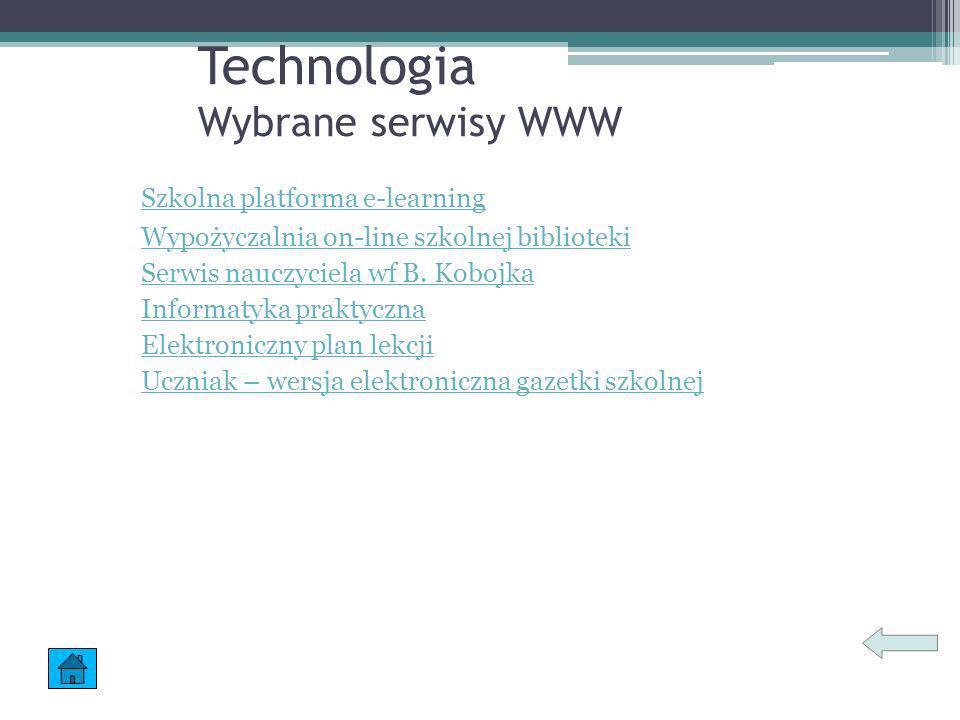 Technologia Wybrane serwisy WWW