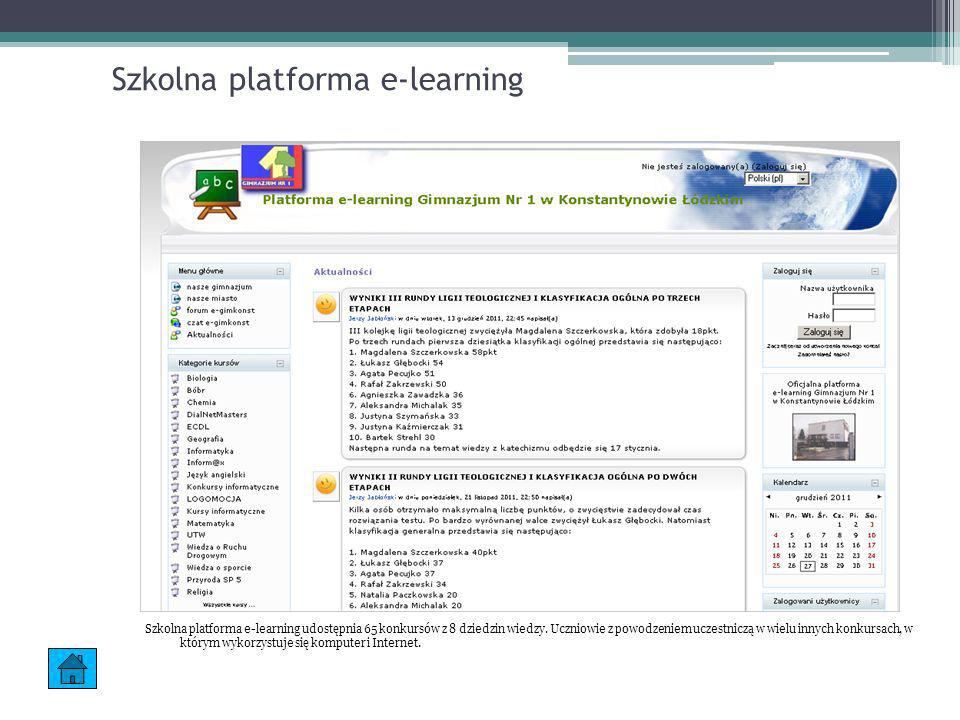 Szkolna platforma e-learning
