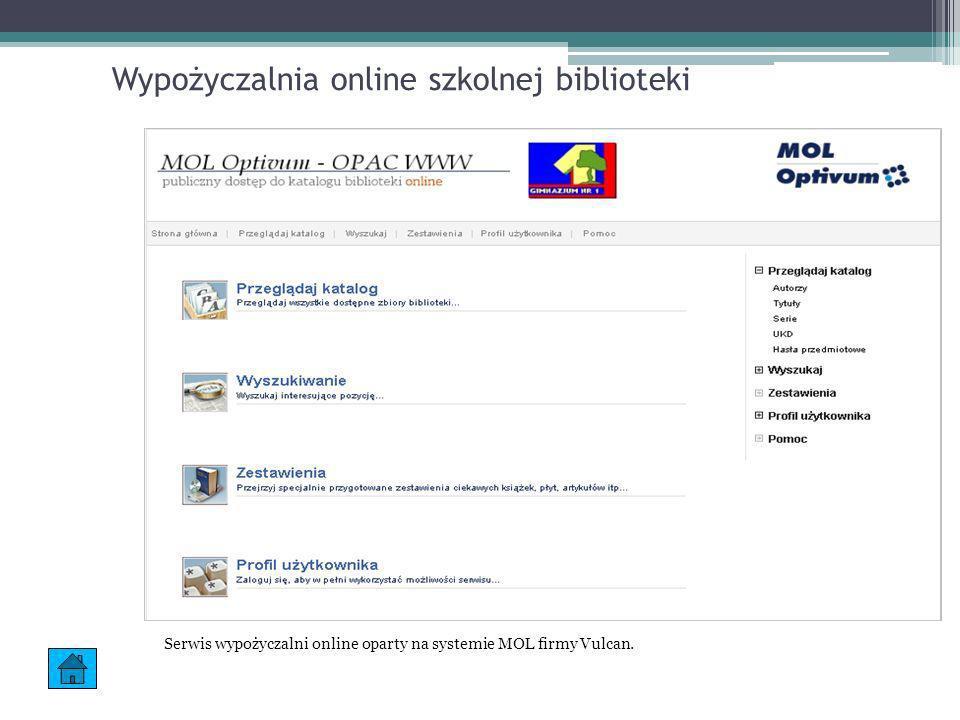 Wypożyczalnia online szkolnej biblioteki