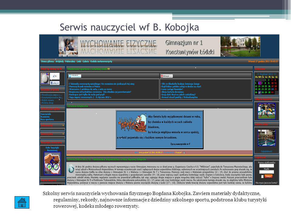 Serwis nauczyciel wf B. Kobojka