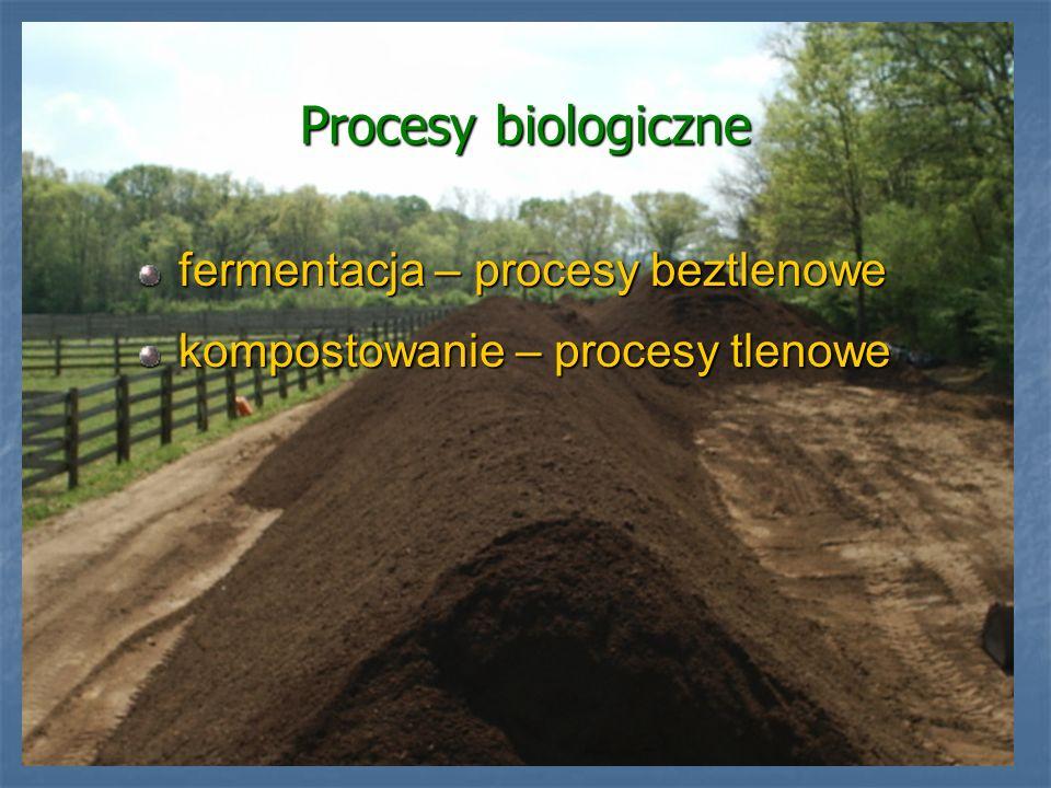 Procesy biologiczne fermentacja – procesy beztlenowe