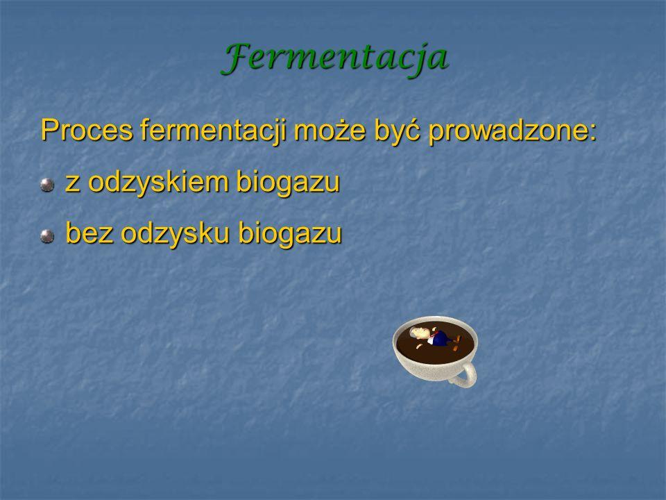 Fermentacja Proces fermentacji może być prowadzone: