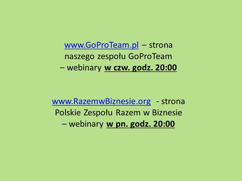www.GoProTeam.pl – strona naszego zespołu GoProTeam