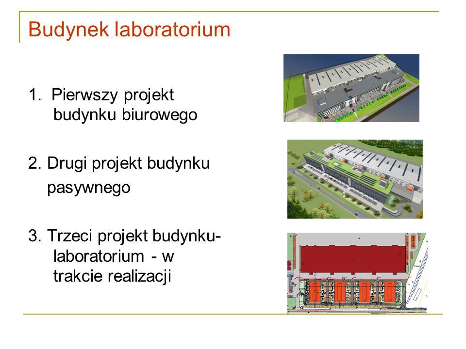 Budynek laboratorium 1. Pierwszy projekt budynku biurowego