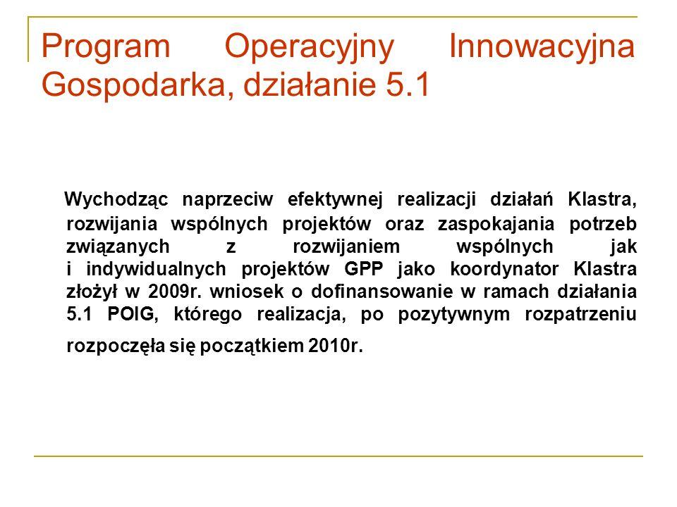 Program Operacyjny Innowacyjna Gospodarka, działanie 5.1