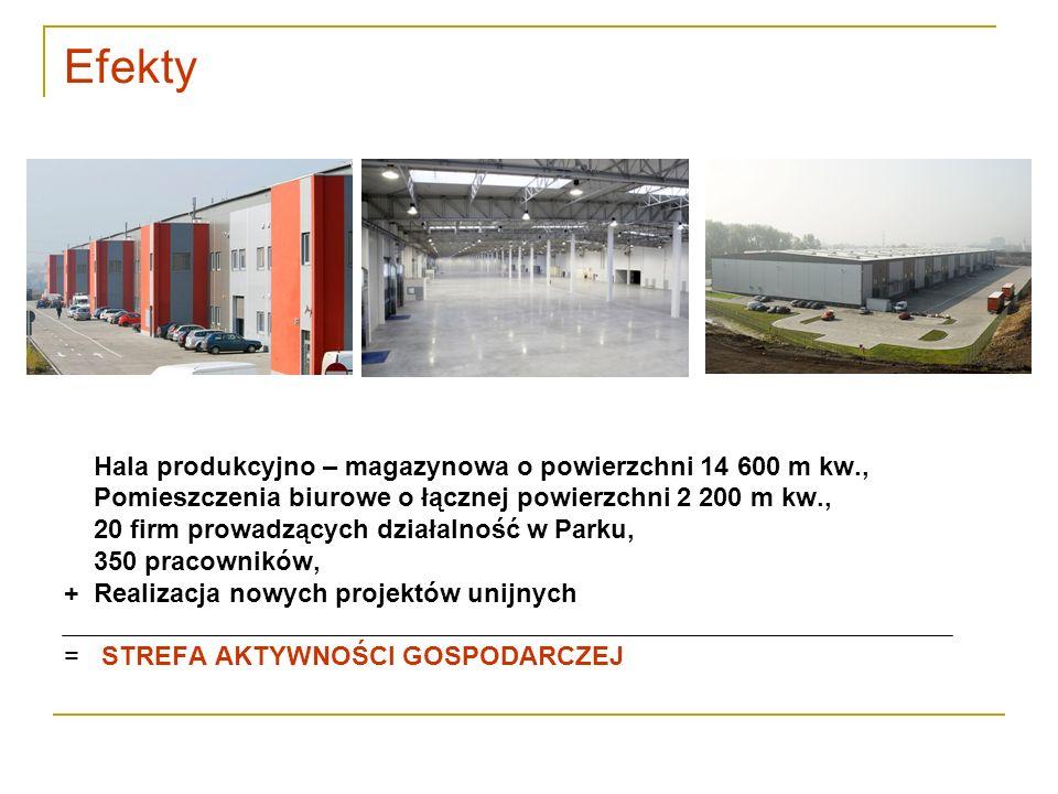 Efekty Hala produkcyjno – magazynowa o powierzchni 14 600 m kw.,