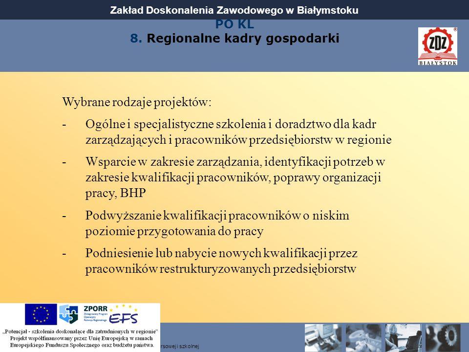 PO KL 8. Regionalne kadry gospodarki