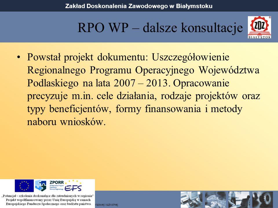 RPO WP – dalsze konsultacje