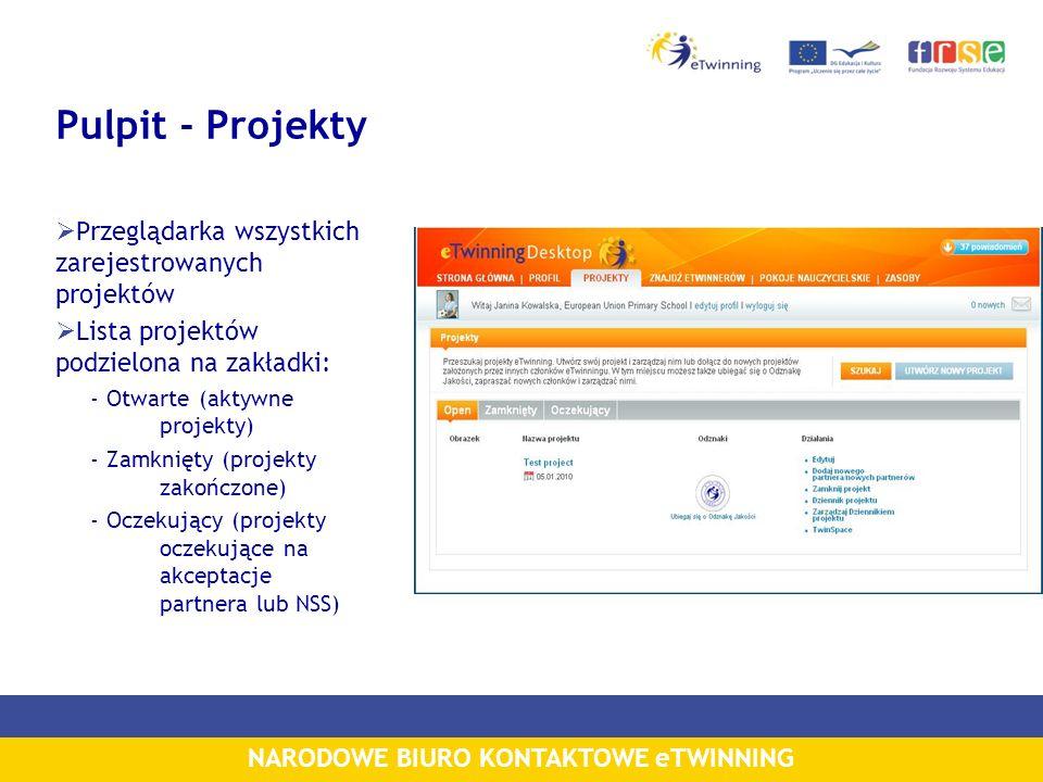 Pulpit - Projekty Przeglądarka wszystkich zarejestrowanych projektów