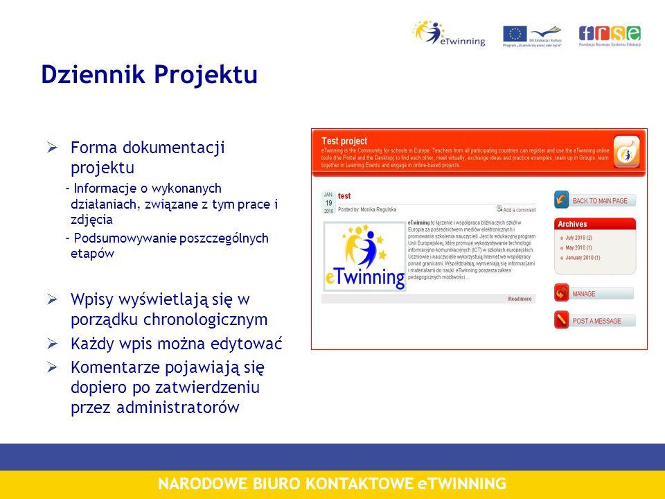 Dziennik Projektu Forma dokumentacji projektu