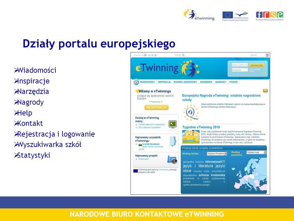 Działy portalu europejskiego