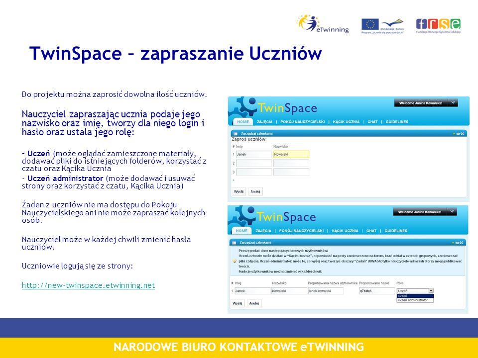 TwinSpace – zapraszanie Uczniów