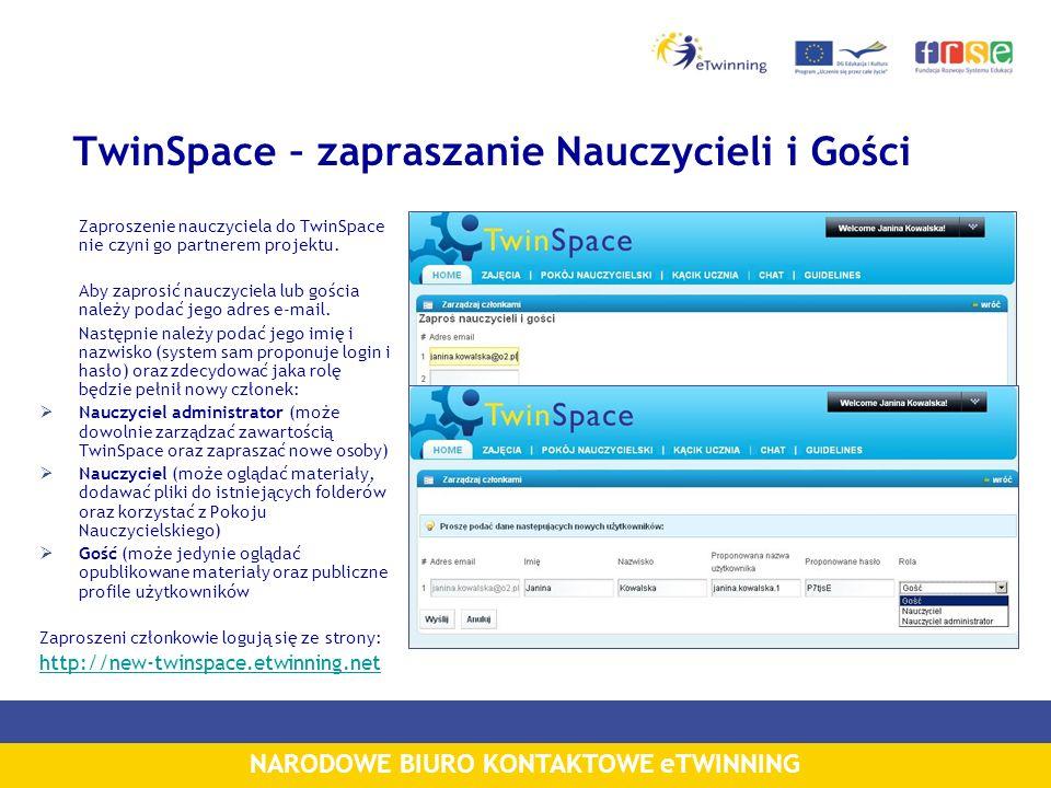 TwinSpace – zapraszanie Nauczycieli i Gości