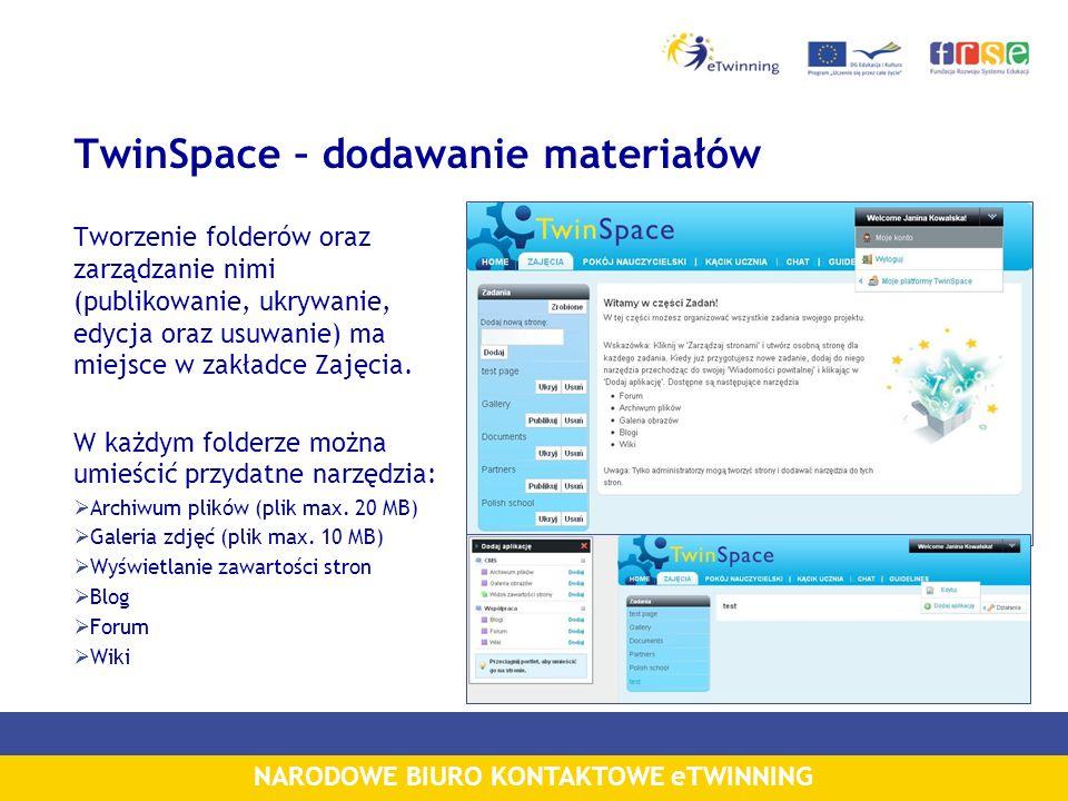 TwinSpace – dodawanie materiałów