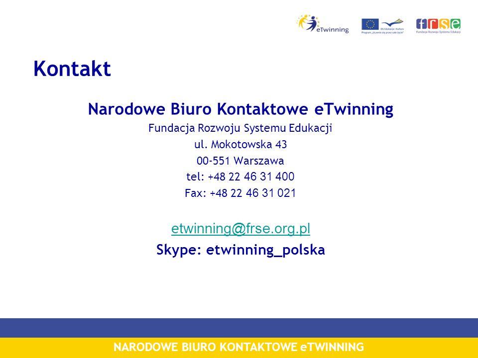Narodowe Biuro Kontaktowe eTwinning Skype: etwinning_polska