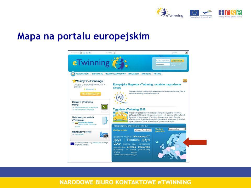 Mapa na portalu europejskim