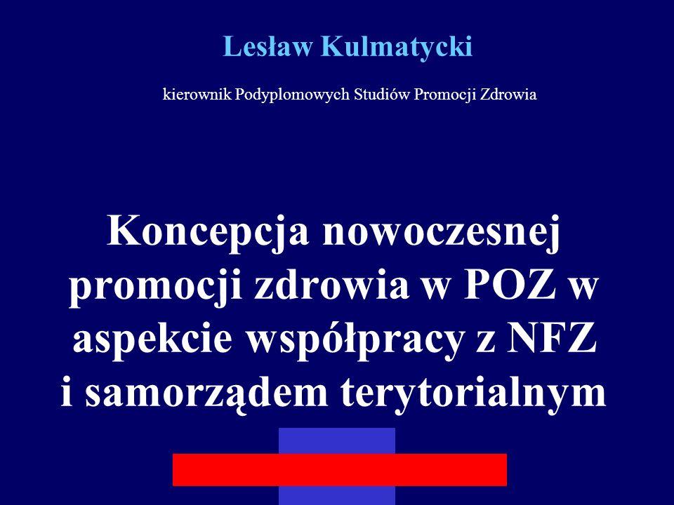 Lesław Kulmatycki kierownik Podyplomowych Studiów Promocji Zdrowia