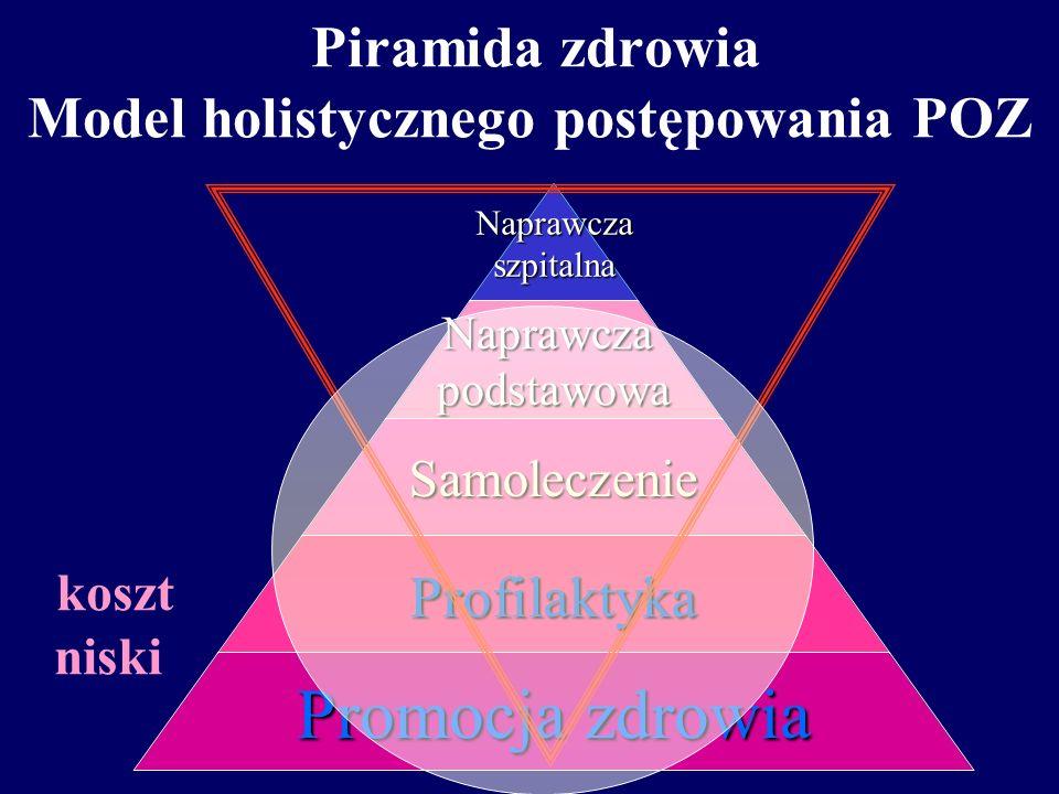 Piramida zdrowia Model holistycznego postępowania POZ