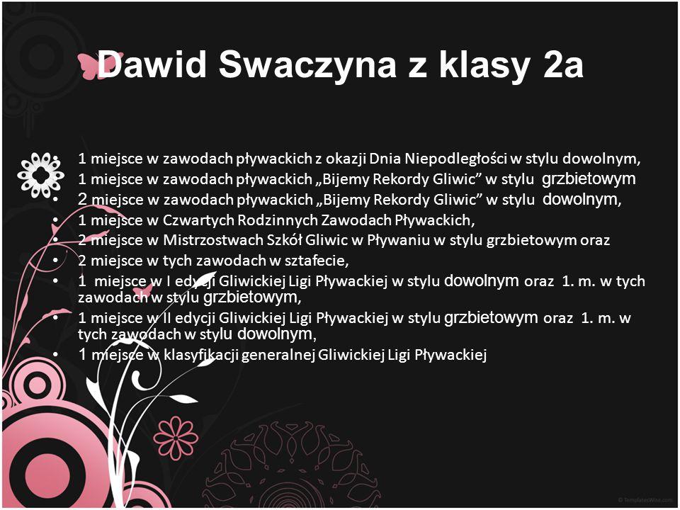 Dawid Swaczyna z klasy 2a
