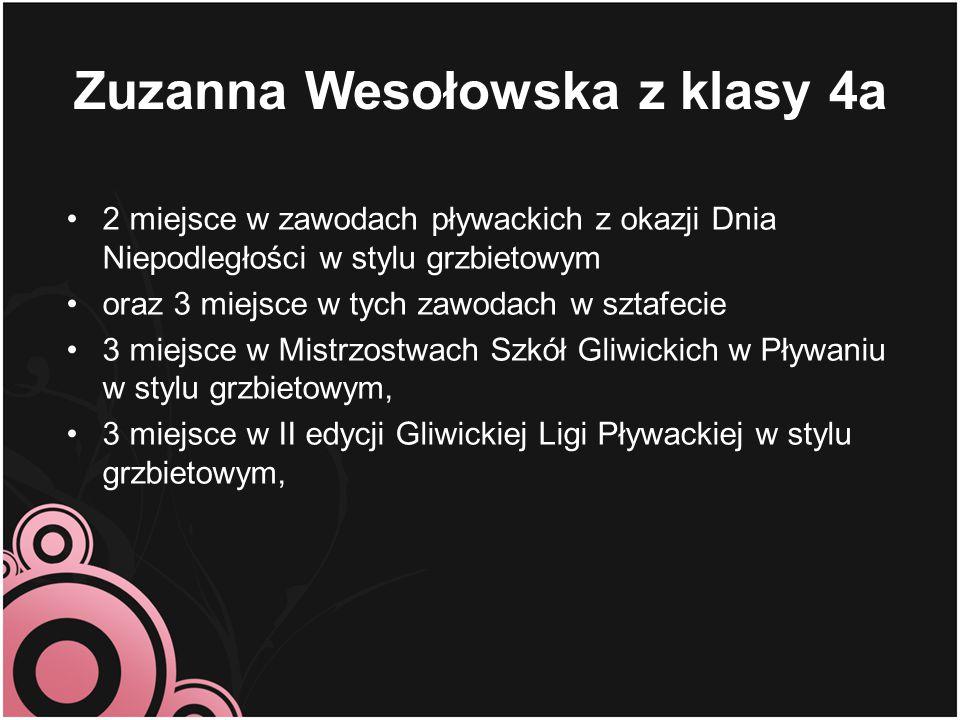Zuzanna Wesołowska z klasy 4a