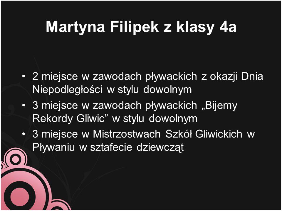 Martyna Filipek z klasy 4a