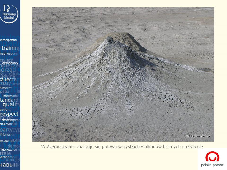 W Azerbejdżanie znajduje się połowa wszystkich wulkanów błotnych na świecie.