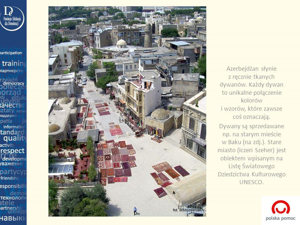Azerbejdżan słynie z ręcznie tkanych dywanów