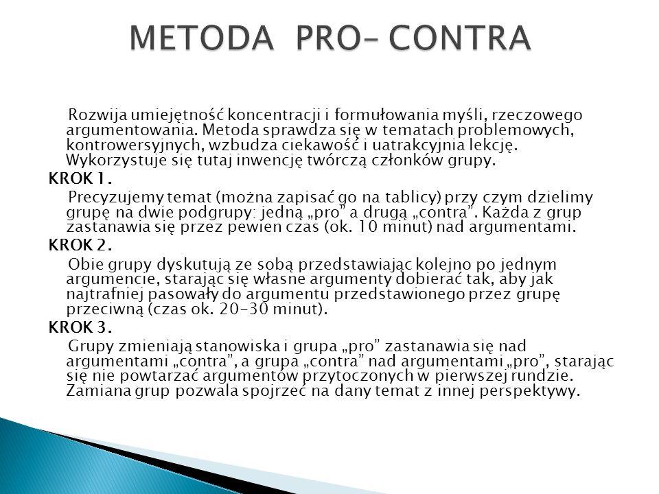 METODA PRO– CONTRA