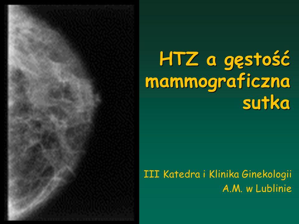 HTZ a gęstość mammograficzna sutka
