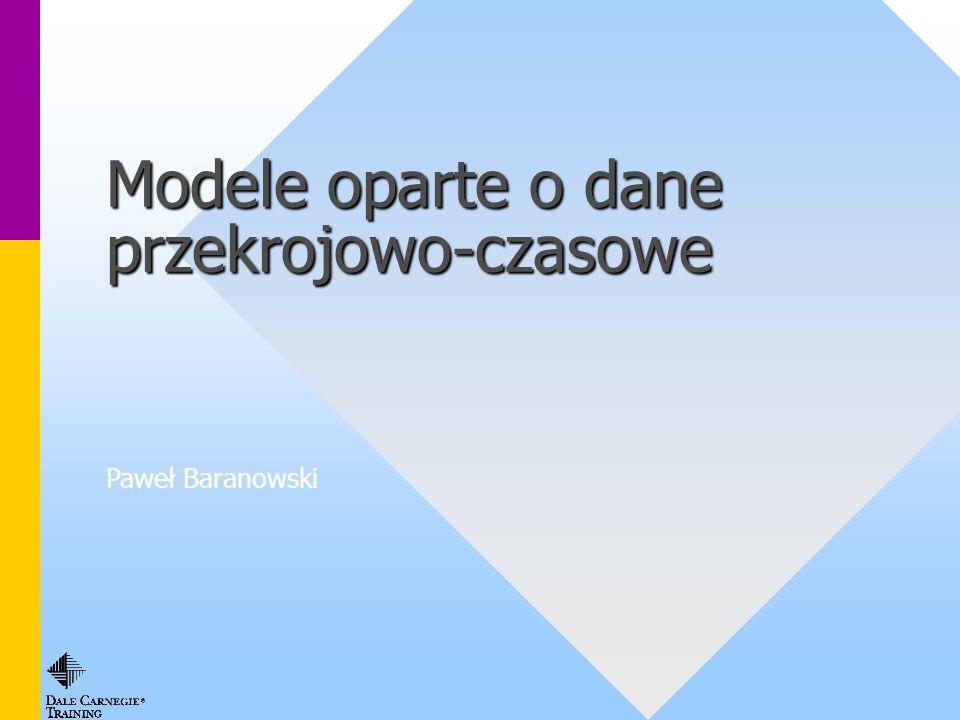 Modele oparte o dane przekrojowo-czasowe