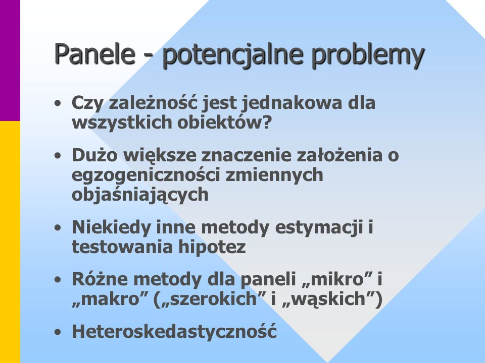 Panele - potencjalne problemy