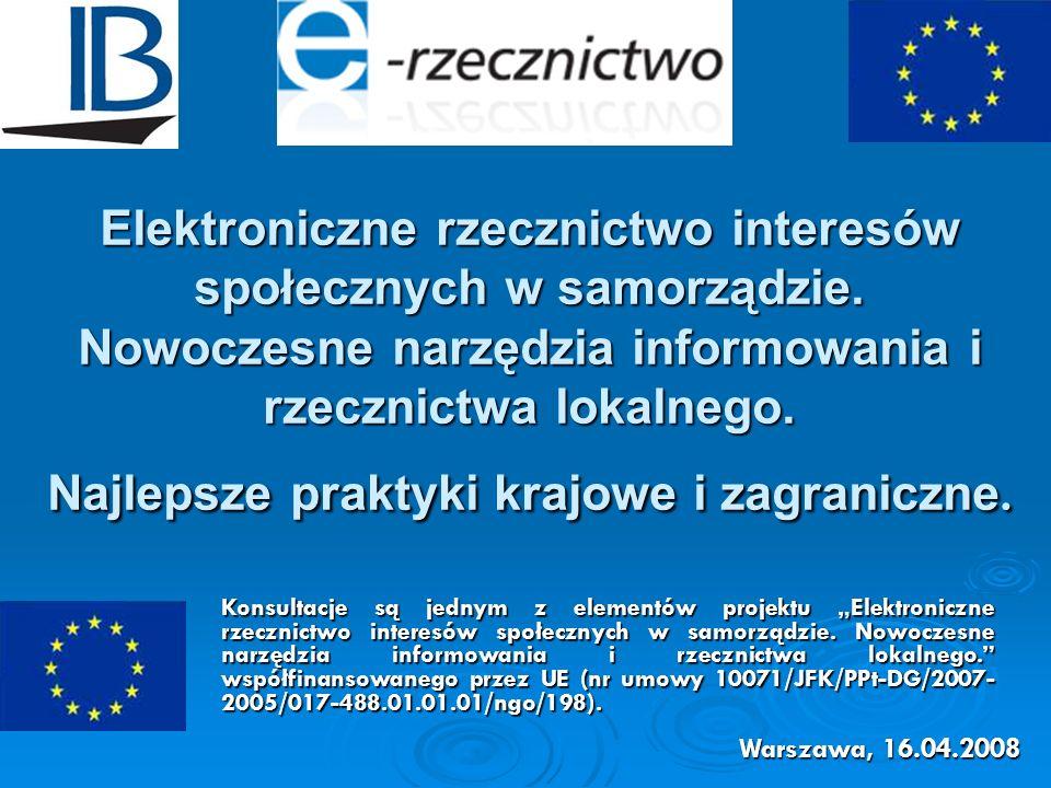 Elektroniczne rzecznictwo interesów społecznych w samorządzie