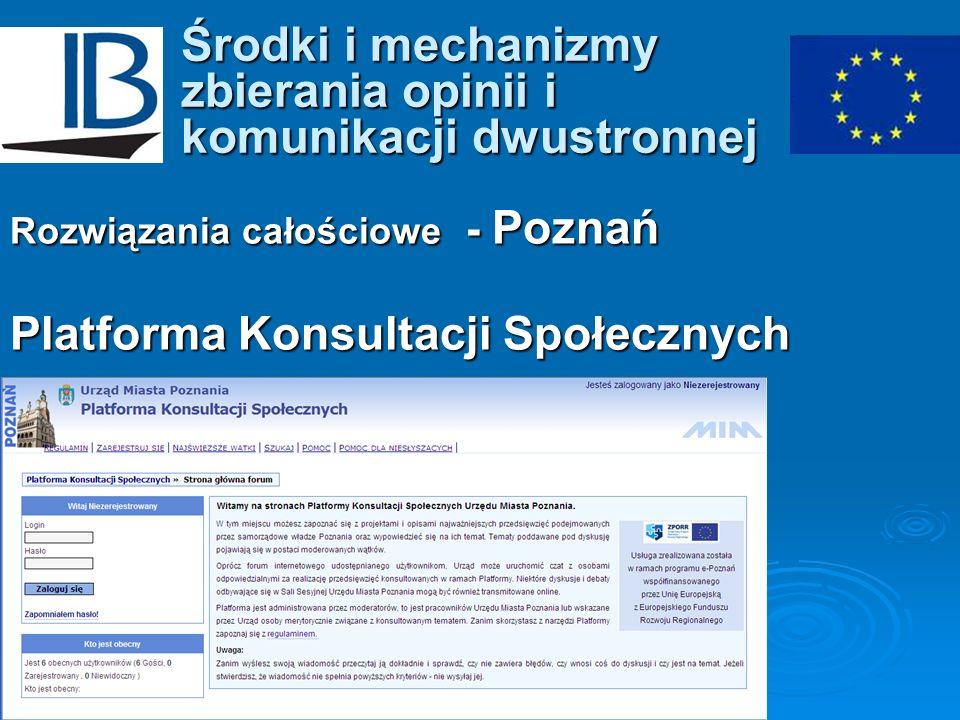 Środki i mechanizmy zbierania opinii i komunikacji dwustronnej