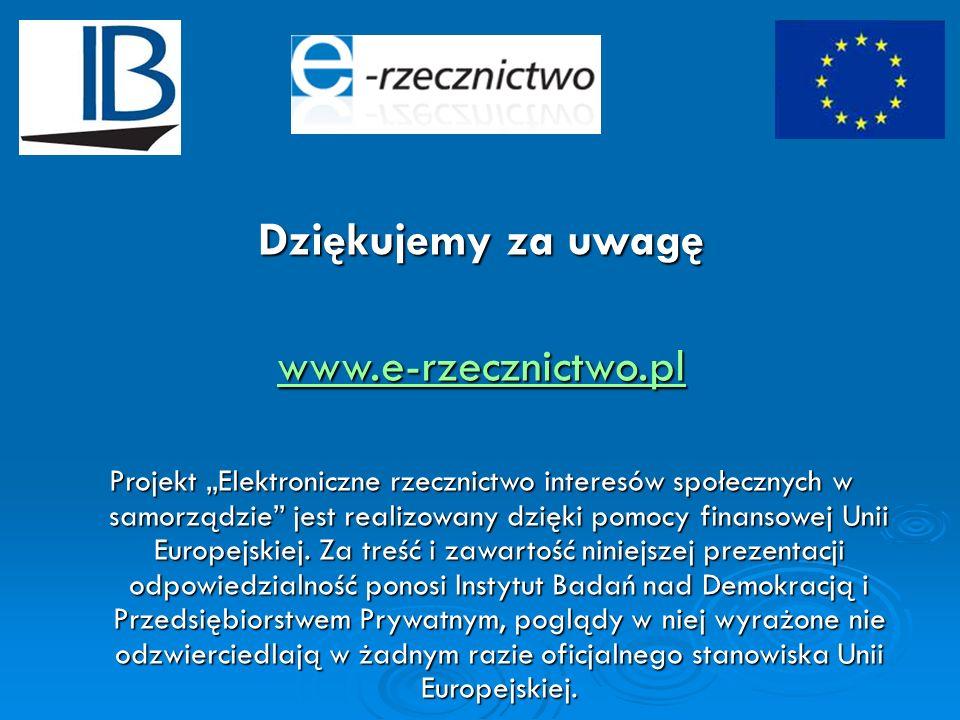 Dziękujemy za uwagę www.e-rzecznictwo.pl