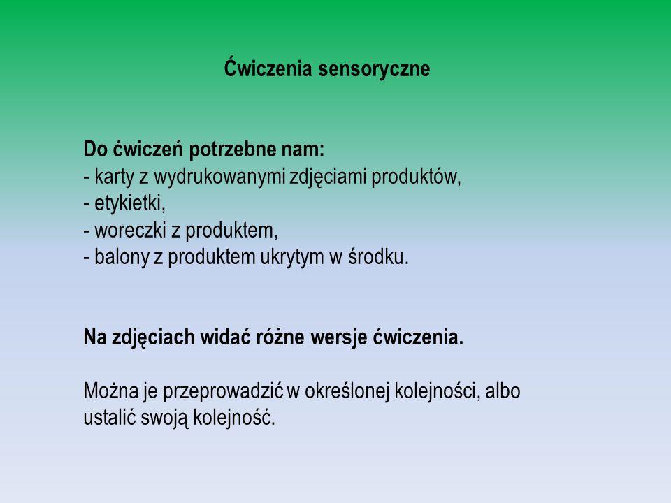 Ćwiczenia sensoryczne