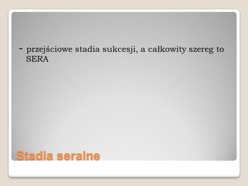- przejściowe stadia sukcesji, a całkowity szereg to SERA