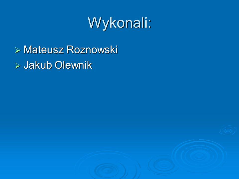 Wykonali: Mateusz Roznowski Jakub Olewnik
