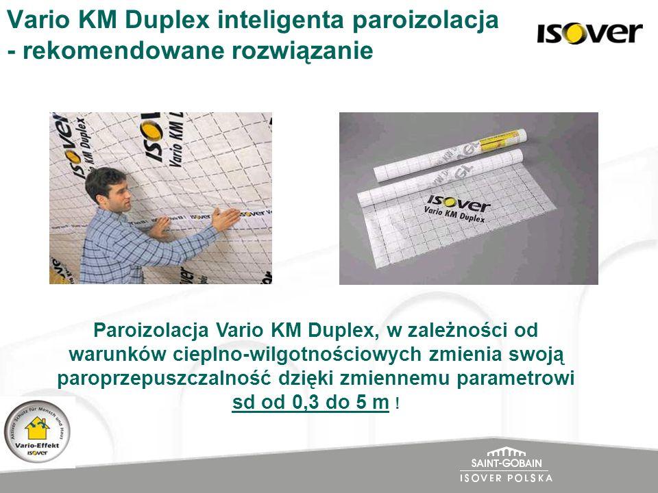 Vario KM Duplex inteligenta paroizolacja - rekomendowane rozwiązanie