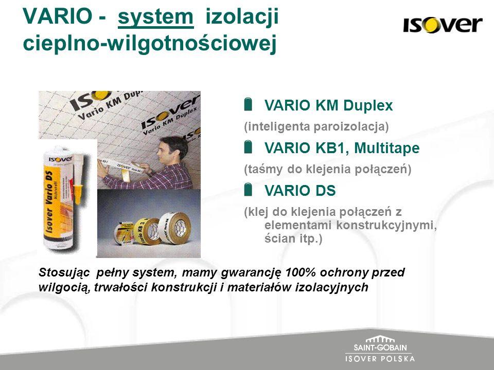 VARIO - system izolacji cieplno-wilgotnościowej