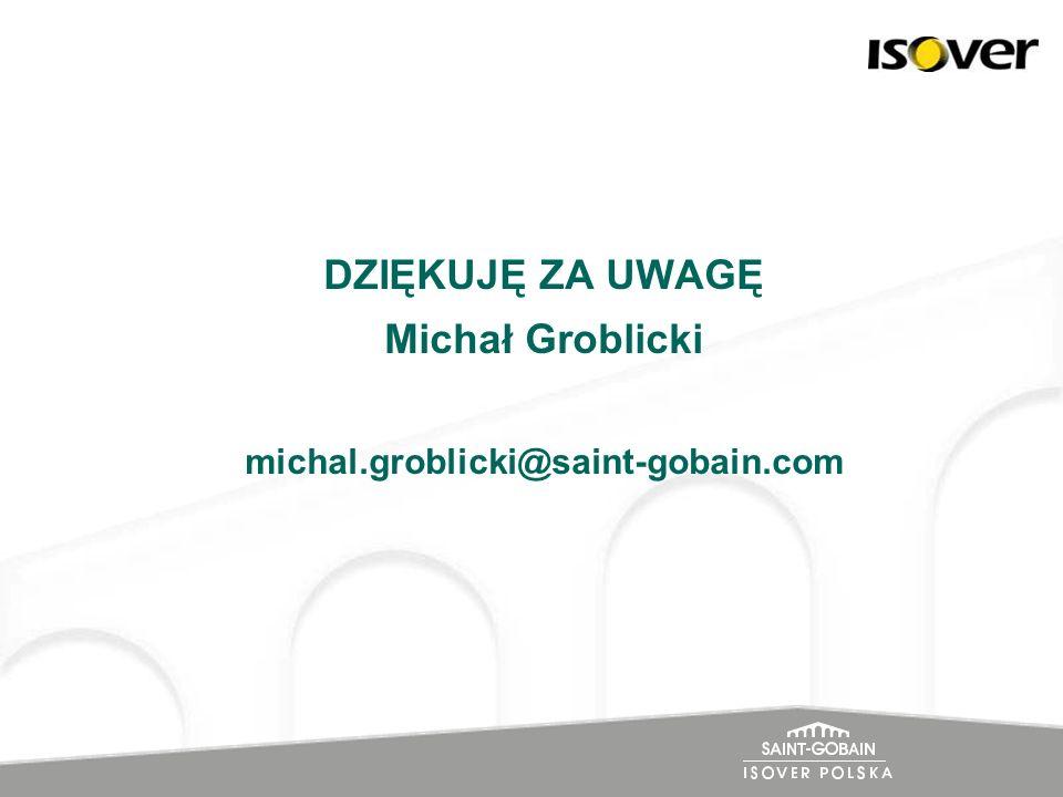 DZIĘKUJĘ ZA UWAGĘ Michał Groblicki