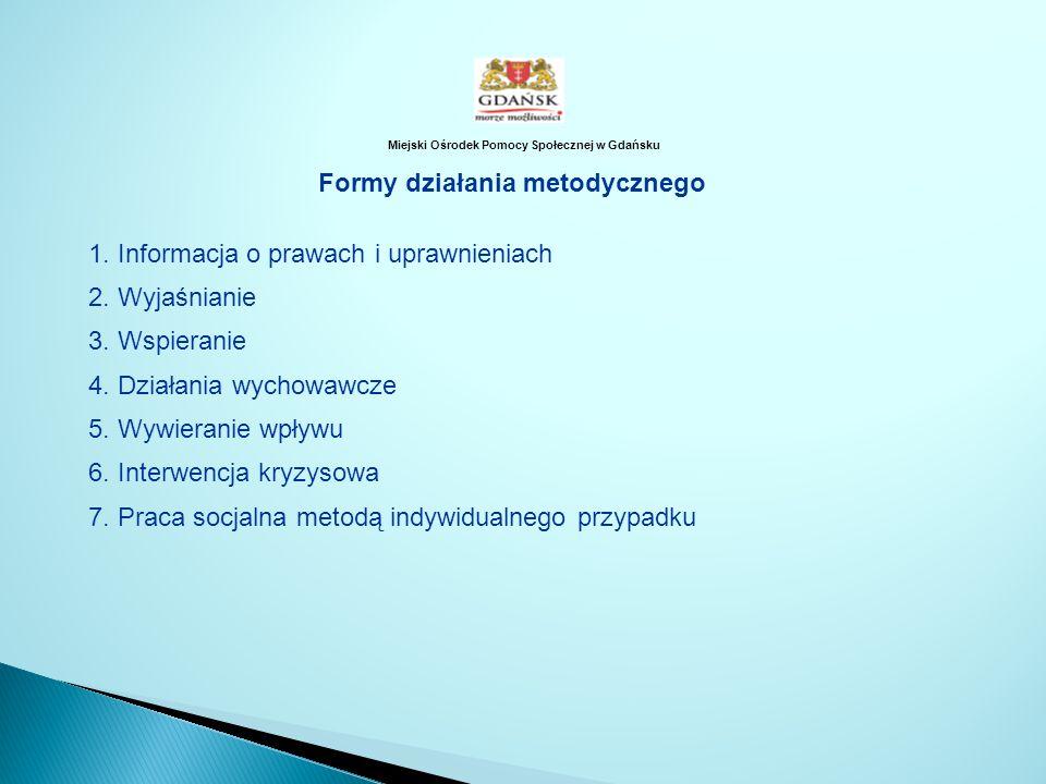 1. Informacja o prawach i uprawnieniach 2. Wyjaśnianie 3. Wspieranie