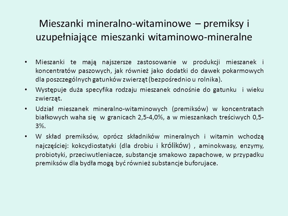 Mieszanki mineralno-witaminowe – premiksy i uzupełniające mieszanki witaminowo-mineralne