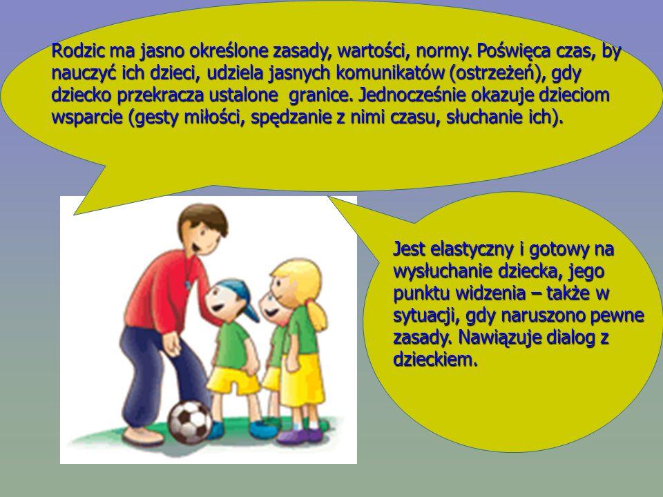 Rodzic ma jasno określone zasady, wartości, normy